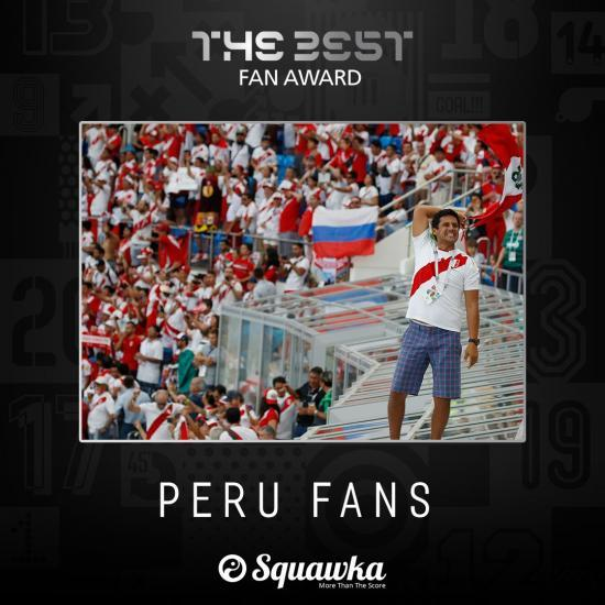 Peru fans win the FIFA Fan Award 2018