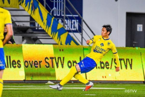 Kamada daiichi scored agaist Royal Antwerp