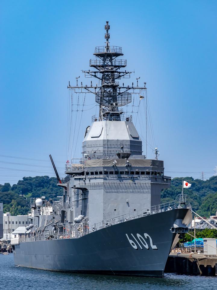 ASE-6102 試験艦あすか 艦首より艦全容@横須賀2