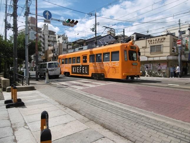 天王寺のチンチン電車