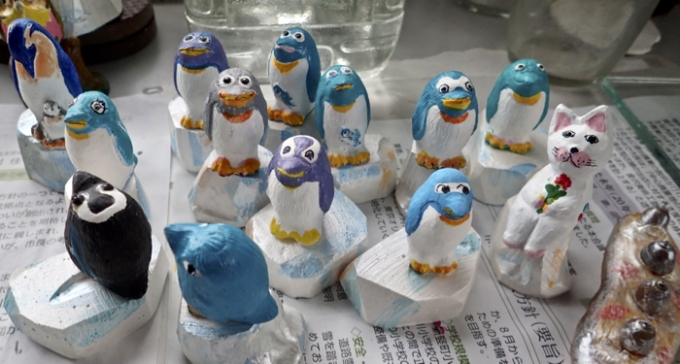 石膏工芸ペンギン