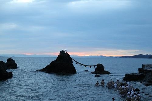 夫婦岩夜明け直前