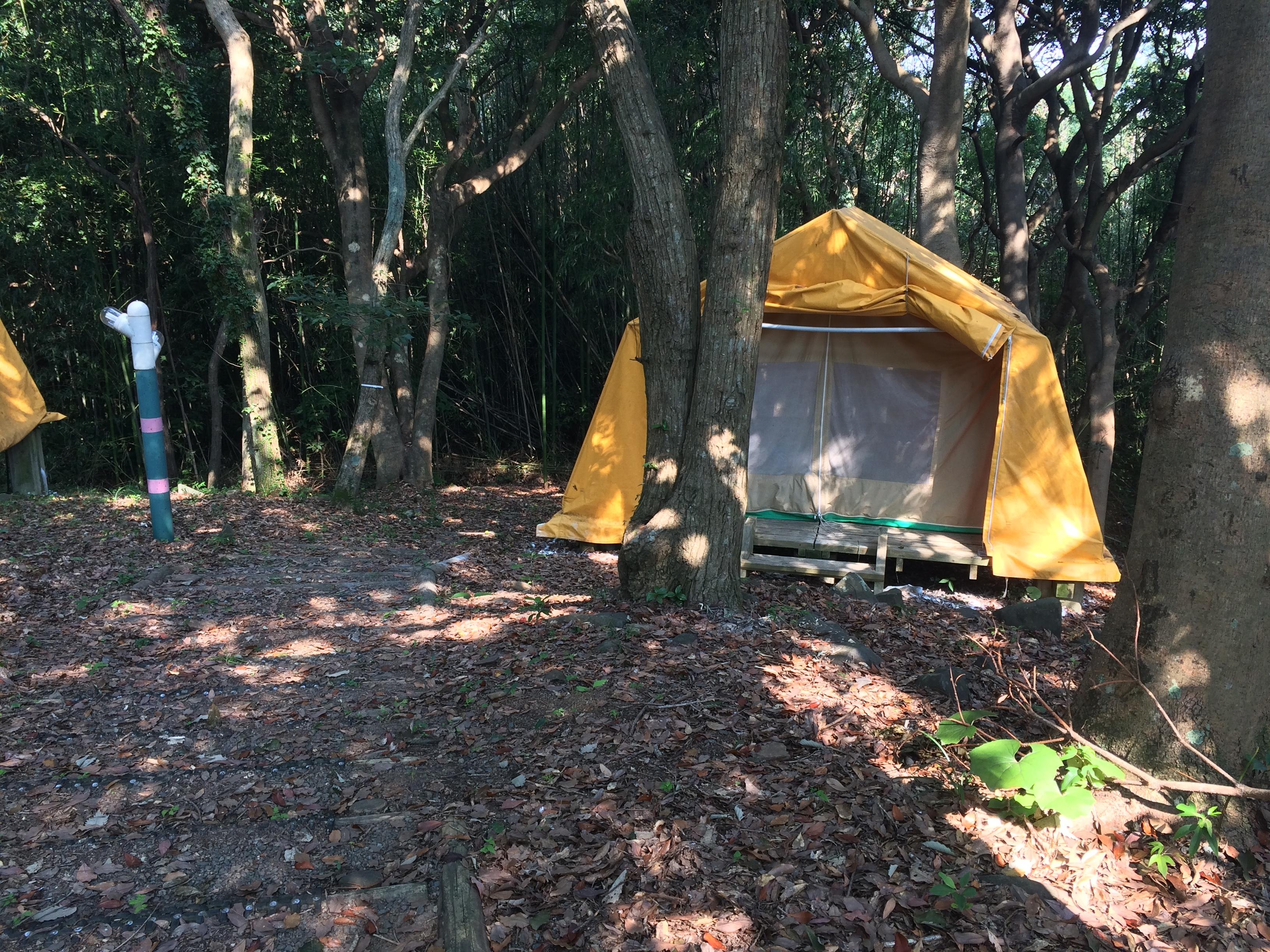 大峰山キャンプ場 テント2