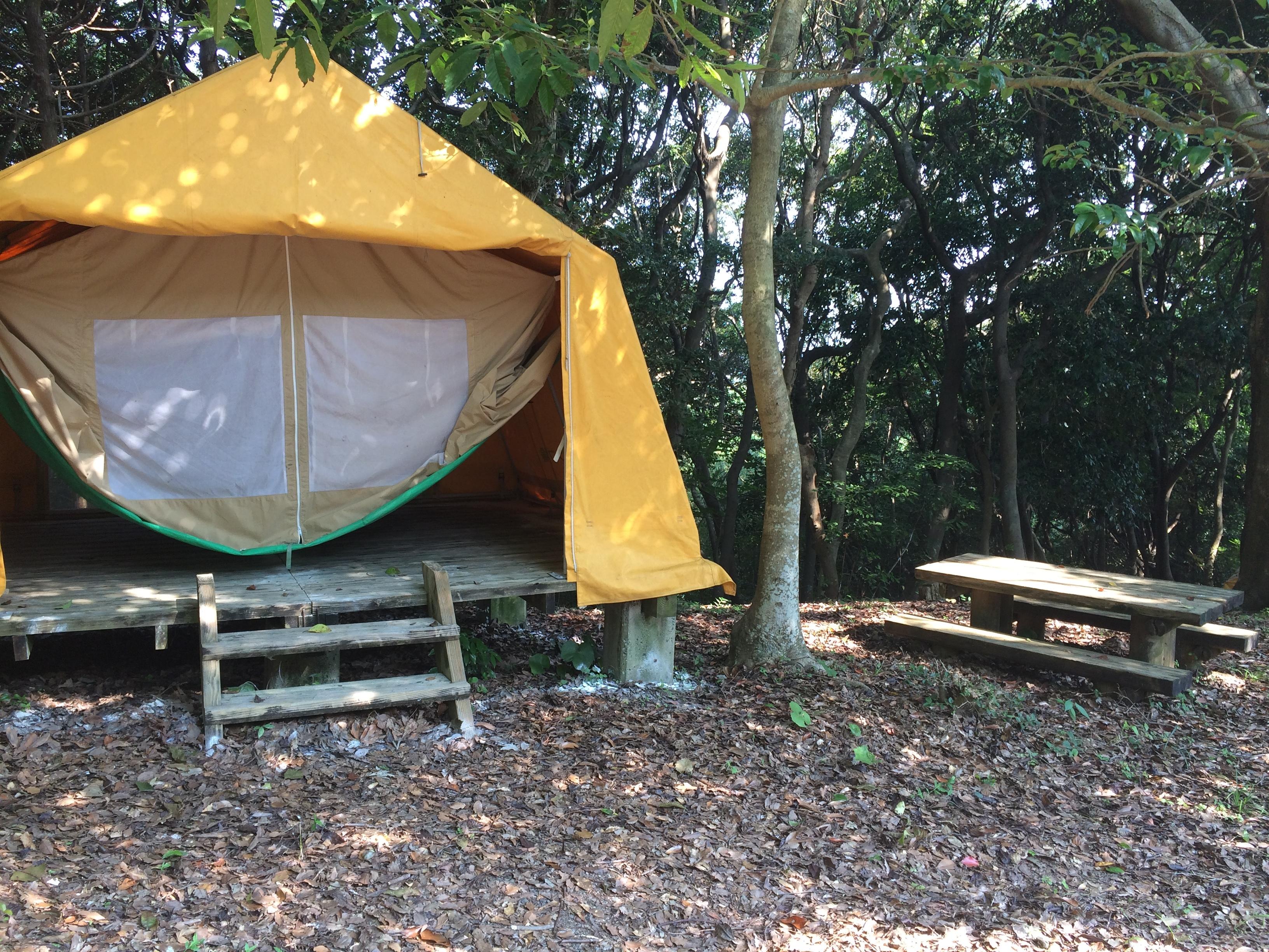 大峰山キャンプ場 テント1