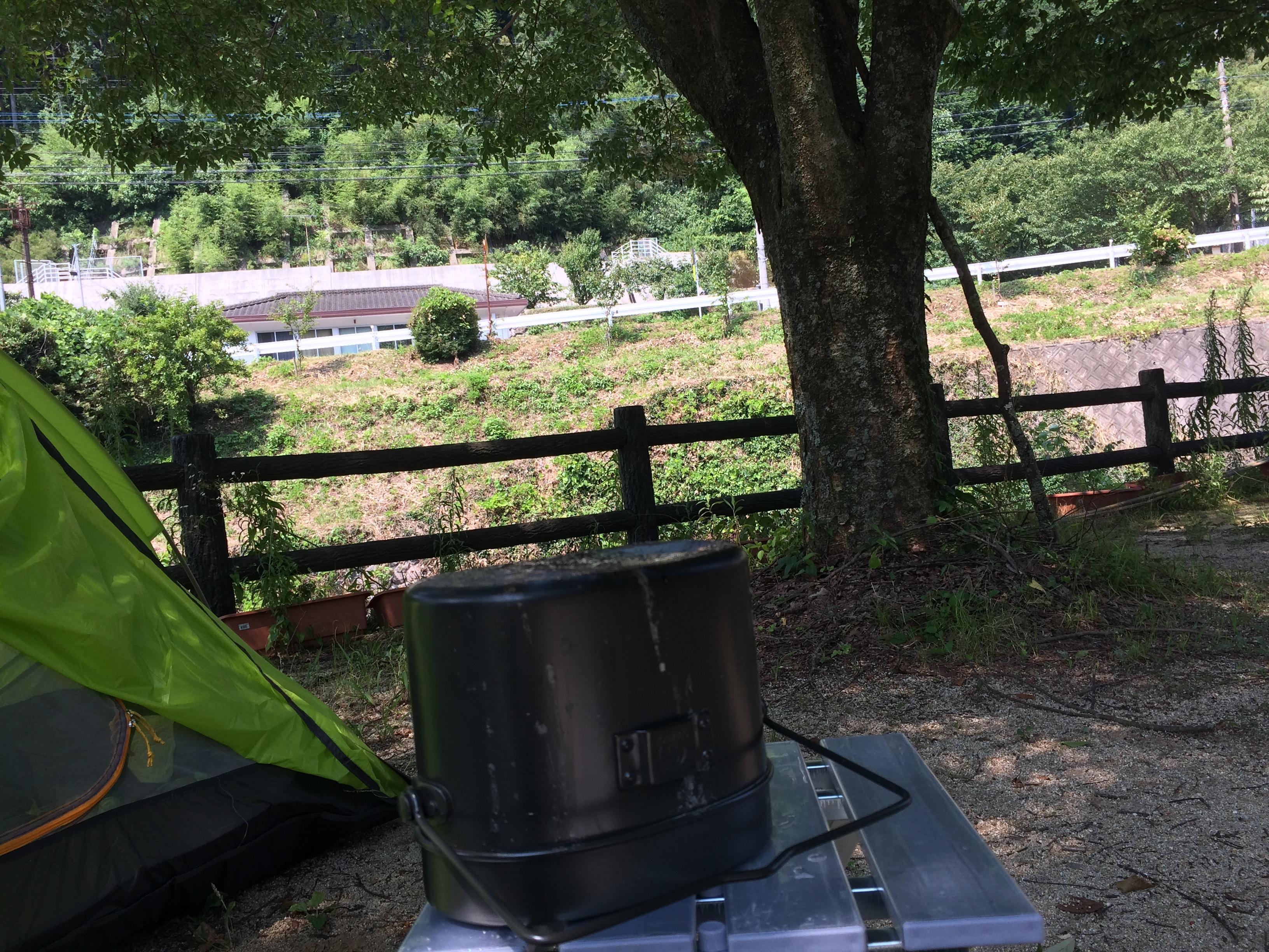 小塩ホタルの里広場キャンプ場 飯盒2
