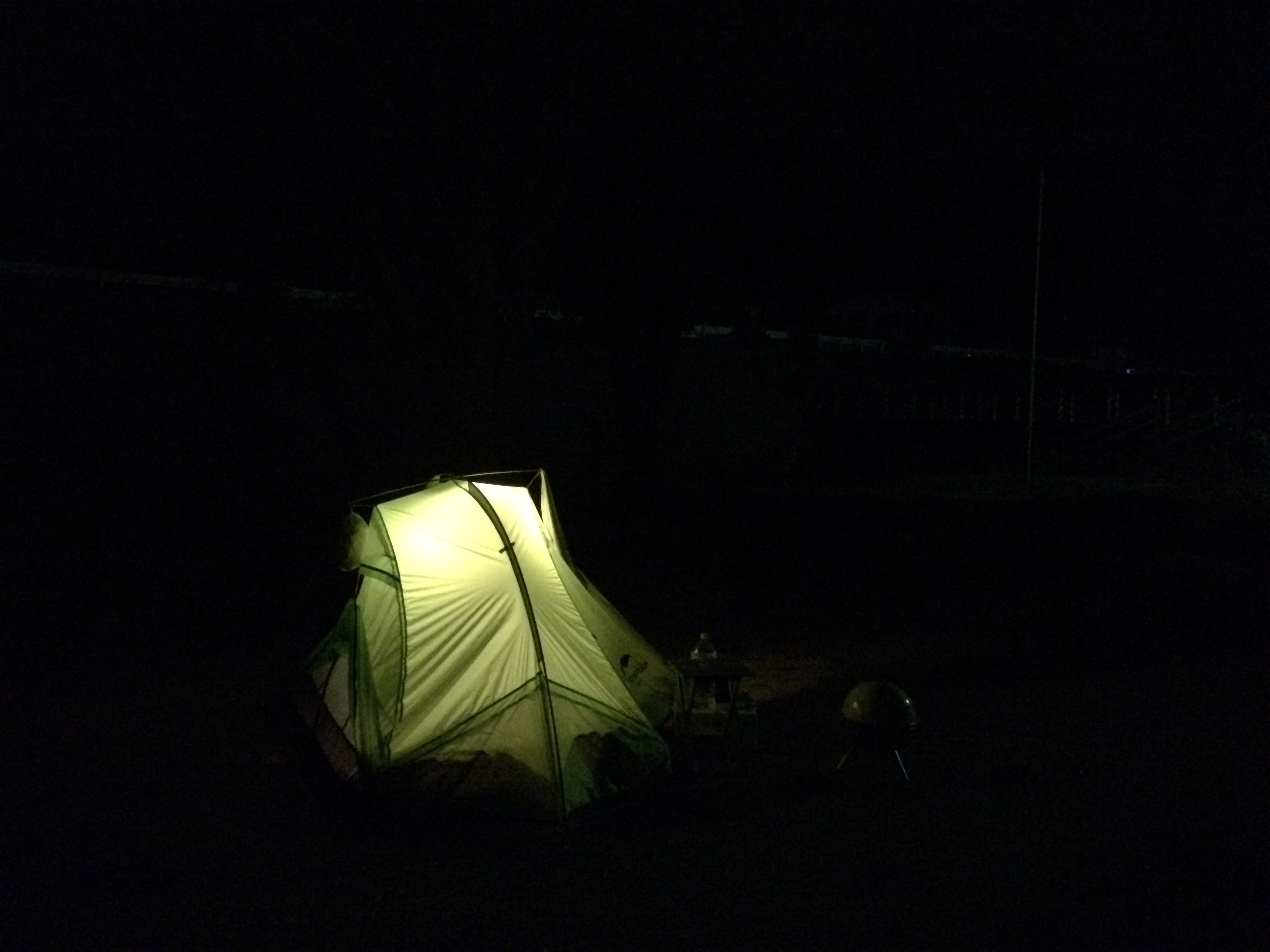 小塩ホタルの里広場キャンプ場 テント1