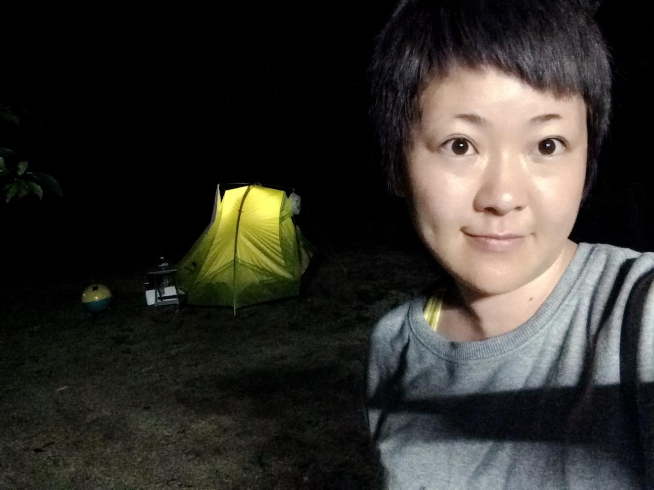 小塩ホタルの里広場キャンプ場 テント2