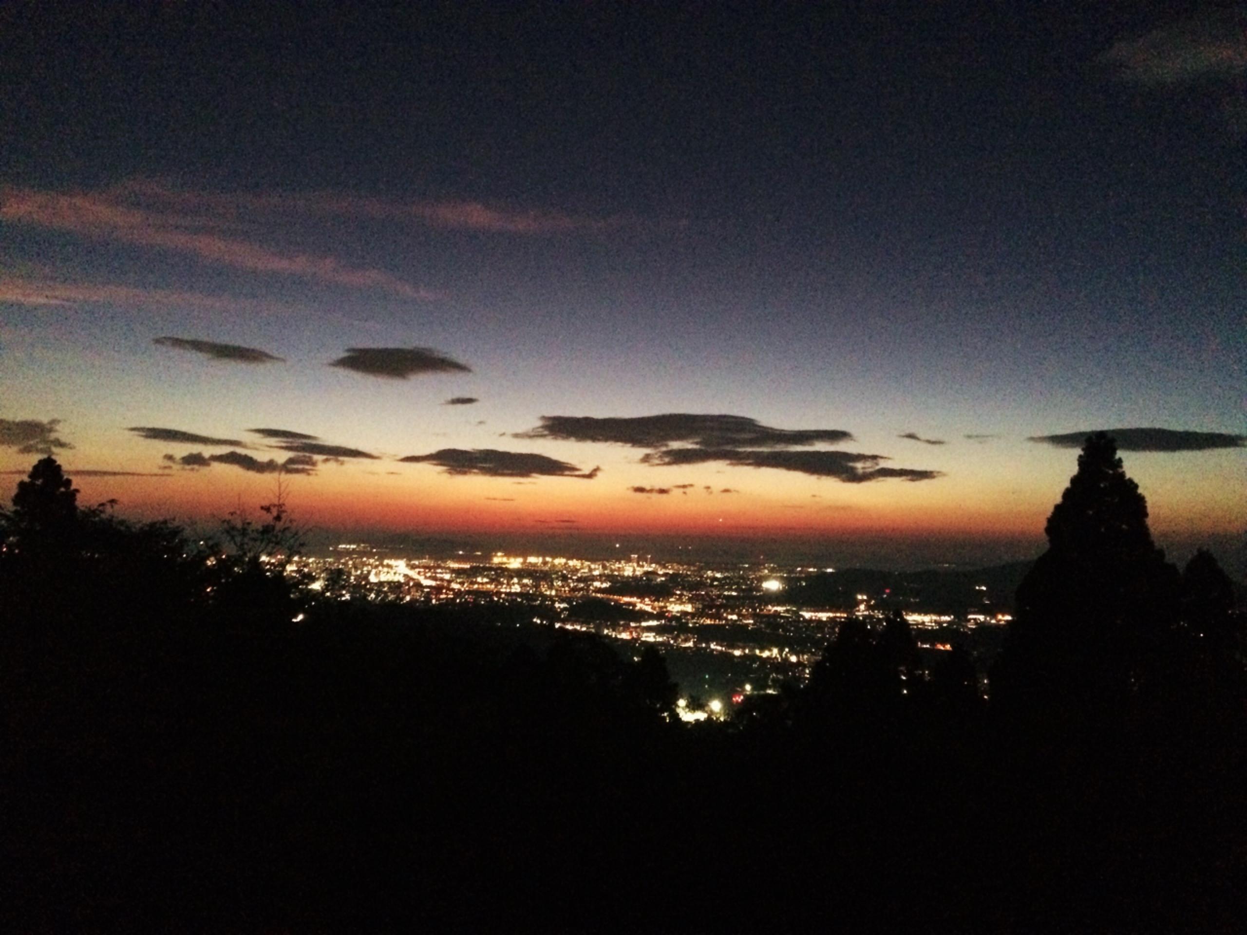 若杉楽園キャンプ場 夜景
