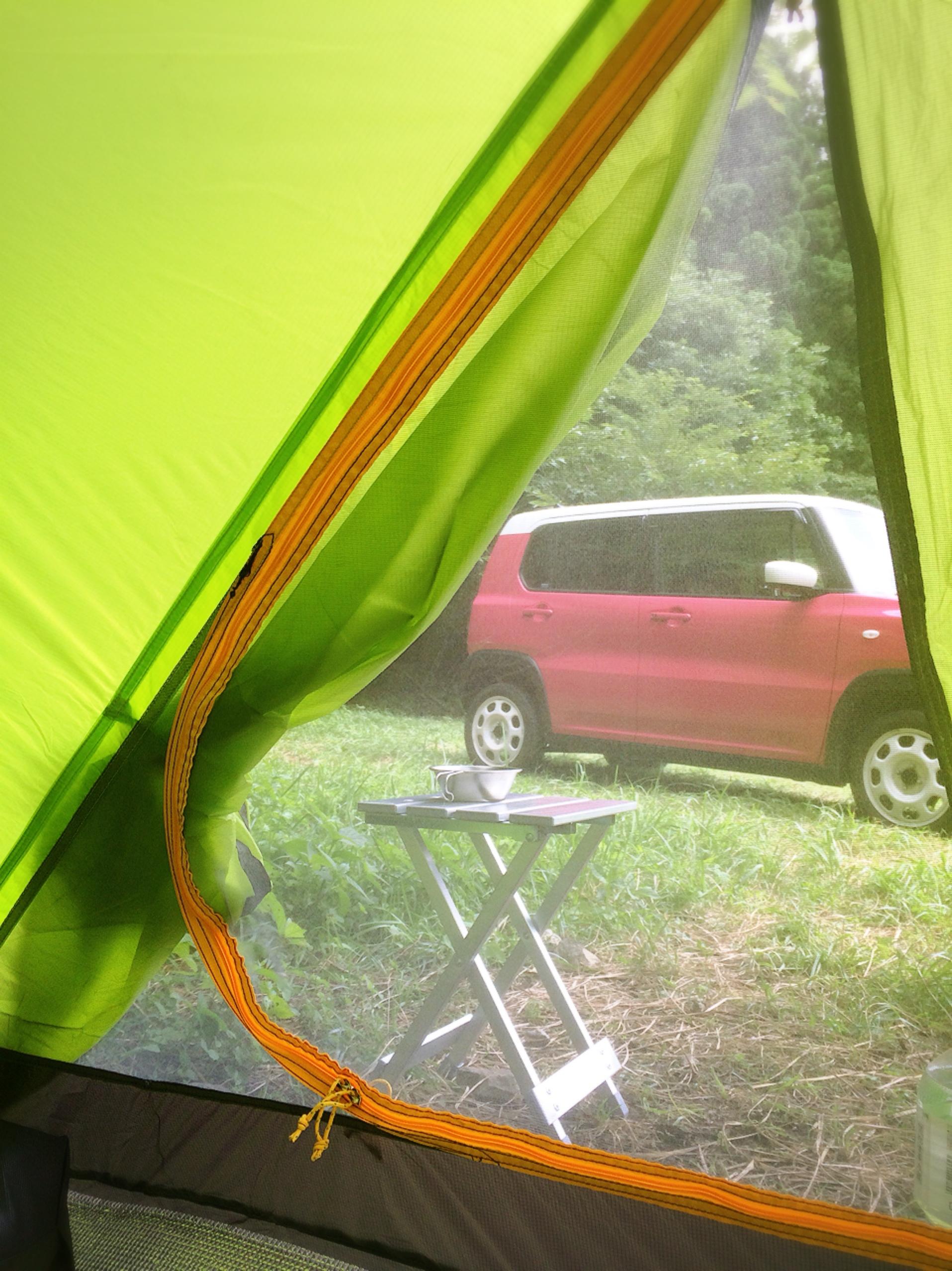 若杉楽園キャンプ場 テント内から