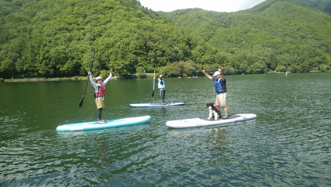 木崎湖SUP体験