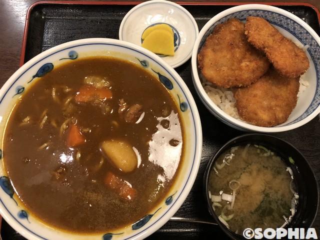 正広 ミニカレーラーメンとミニタレかつ丼セット