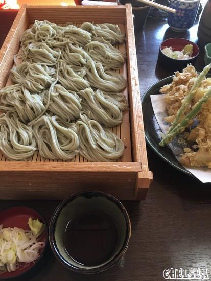 2人盛り へぎそばと舞茸天ぷら