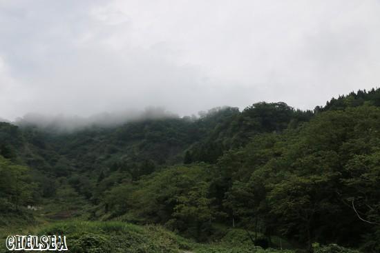 奴奈川姫産所の湧き水から見た景色