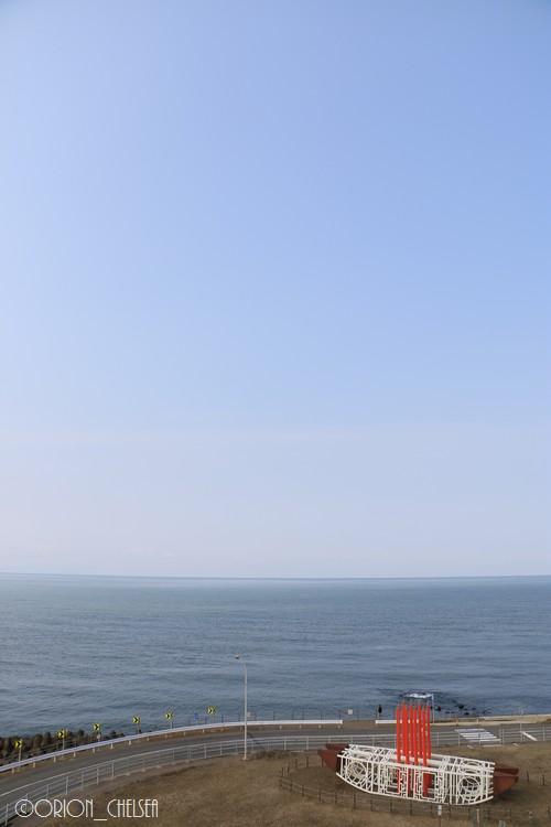 日本海と心園の渡り