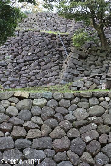 金沢城址_東の丸東面の石垣