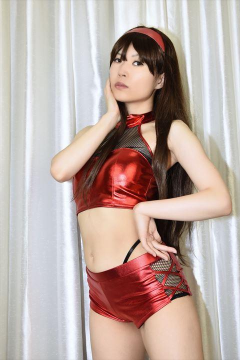 メタリック素材 ダンス衣装 うしじまいい肉 ニーハイ 02
