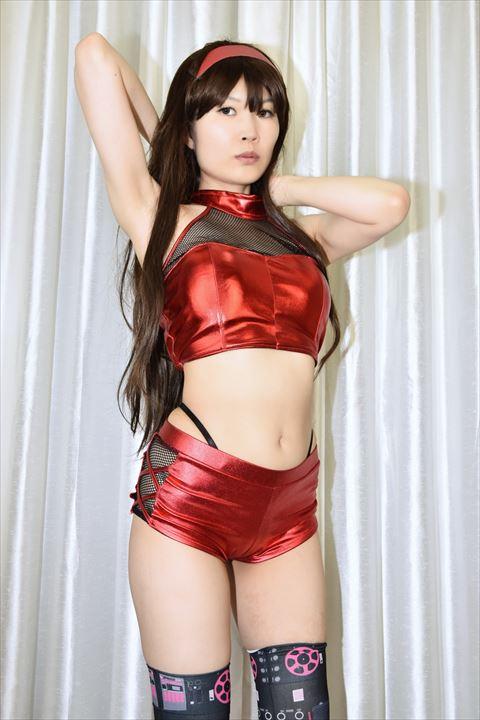 メタリック素材 ダンス衣装 うしじまいい肉 ニーハイ 05