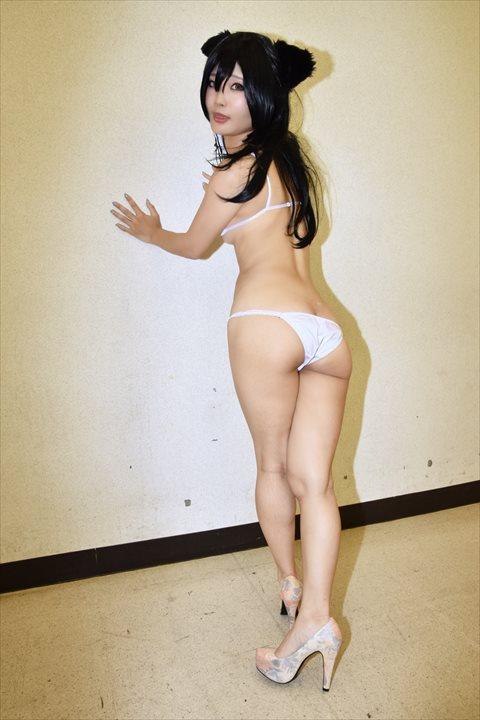 アズールレーン 愛宕 メイド水着 うしじまいい肉 コスプレ 05