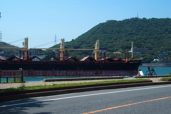 貨物線と火の山