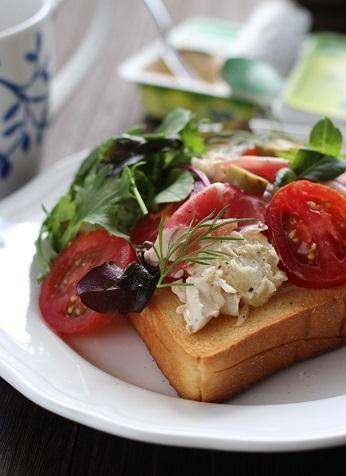 チーズポテトサラダトースト3