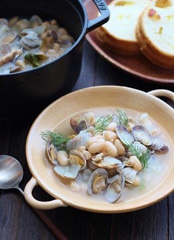 いんげんと浅利のスープ煮3