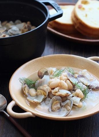いんげんと浅利のスープ煮2