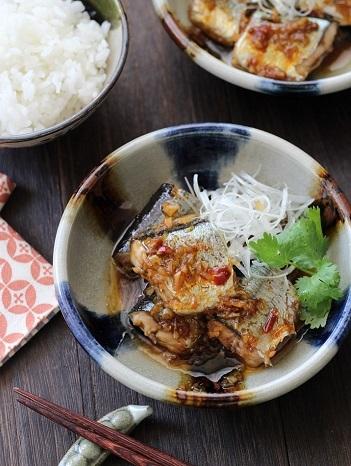 ピリ辛秋刀魚中華風2