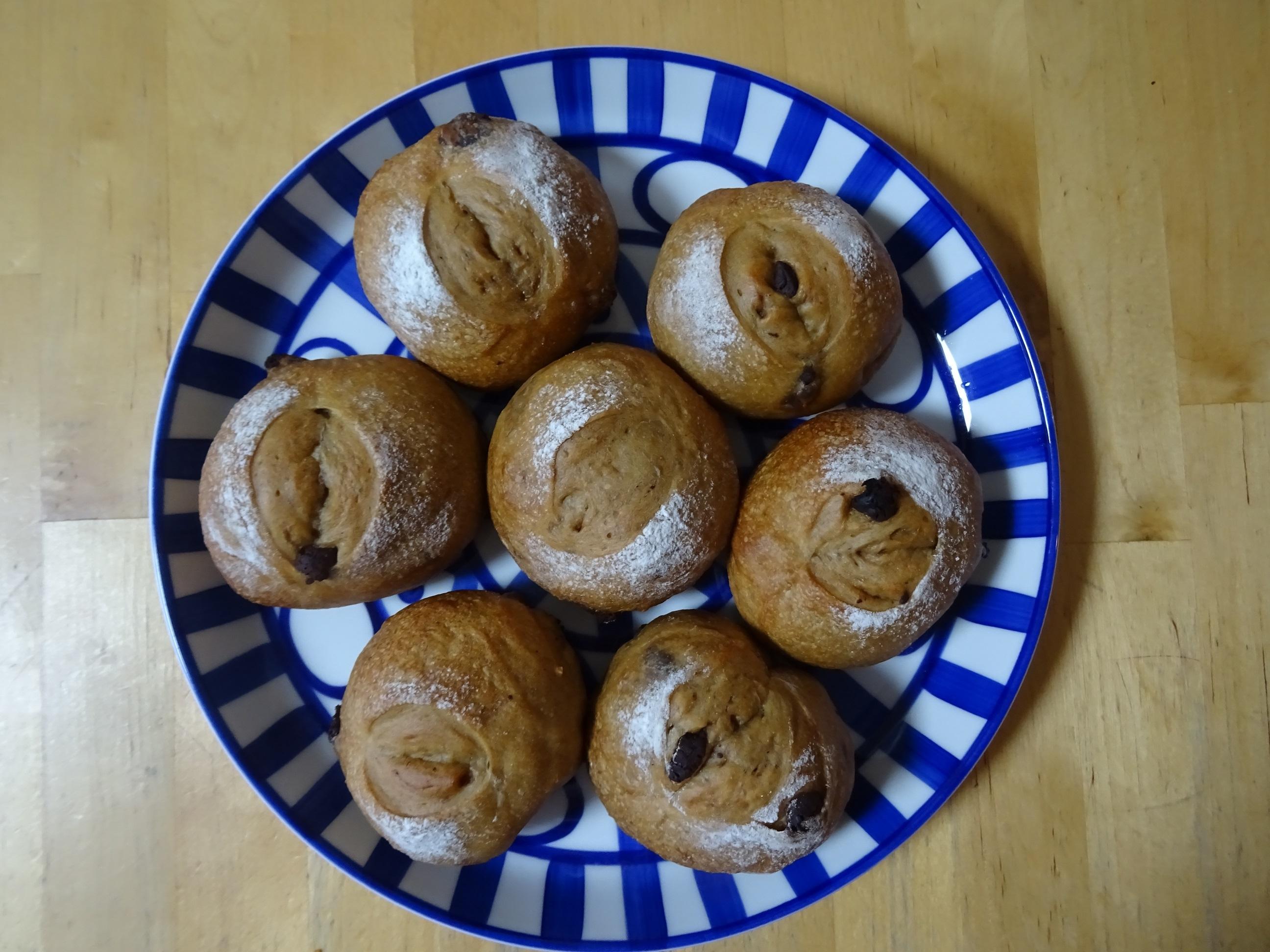 珈琲チョコチップパン