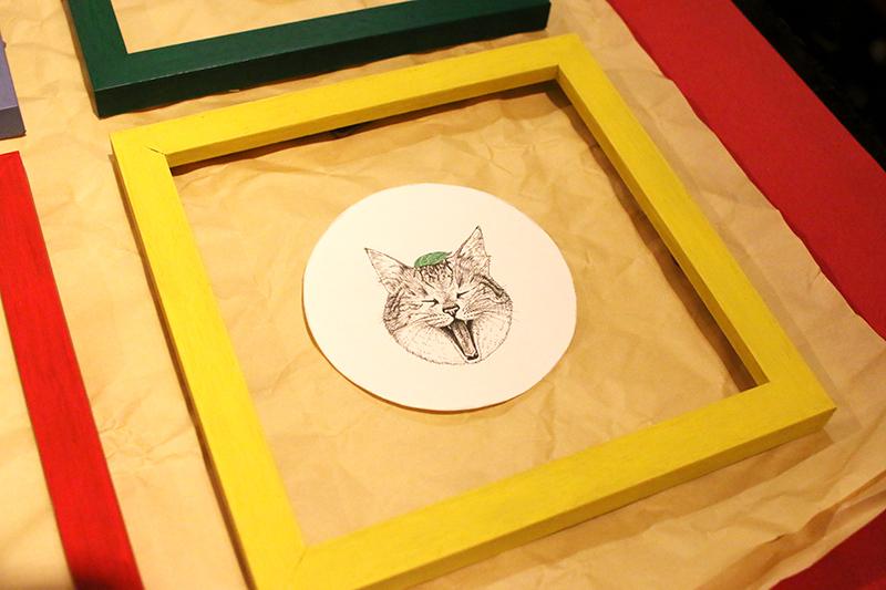 大田区 池上 パンタレイ panta rhei ギャラリー なかの真実 mamimals 原画 猫 cat