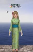 緑の浴衣1
