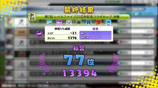 Newみんゴル 77位 初のTop100以内 (1)