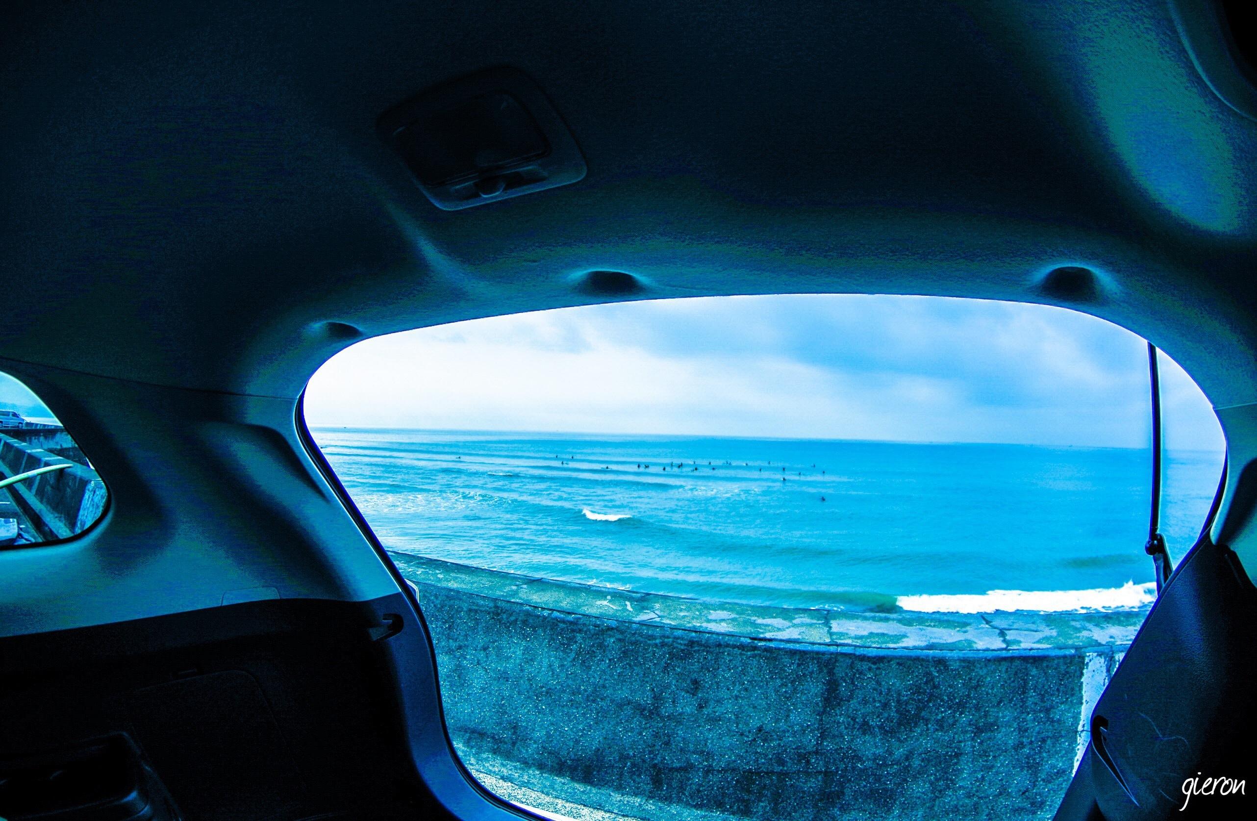 アウトランダーPHEV 海 夏 クルマの撮影スポット