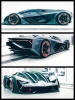 ランボルギーニ テルッツオ ミレニオ EV技術ならスーパーカー