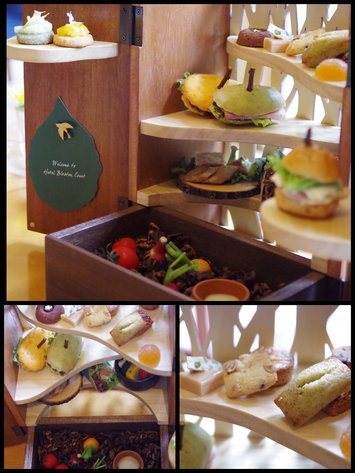 軽井沢ブレストンコートホテル テラスヴィラ ザラウンジ 森のアフタヌーンティー夏