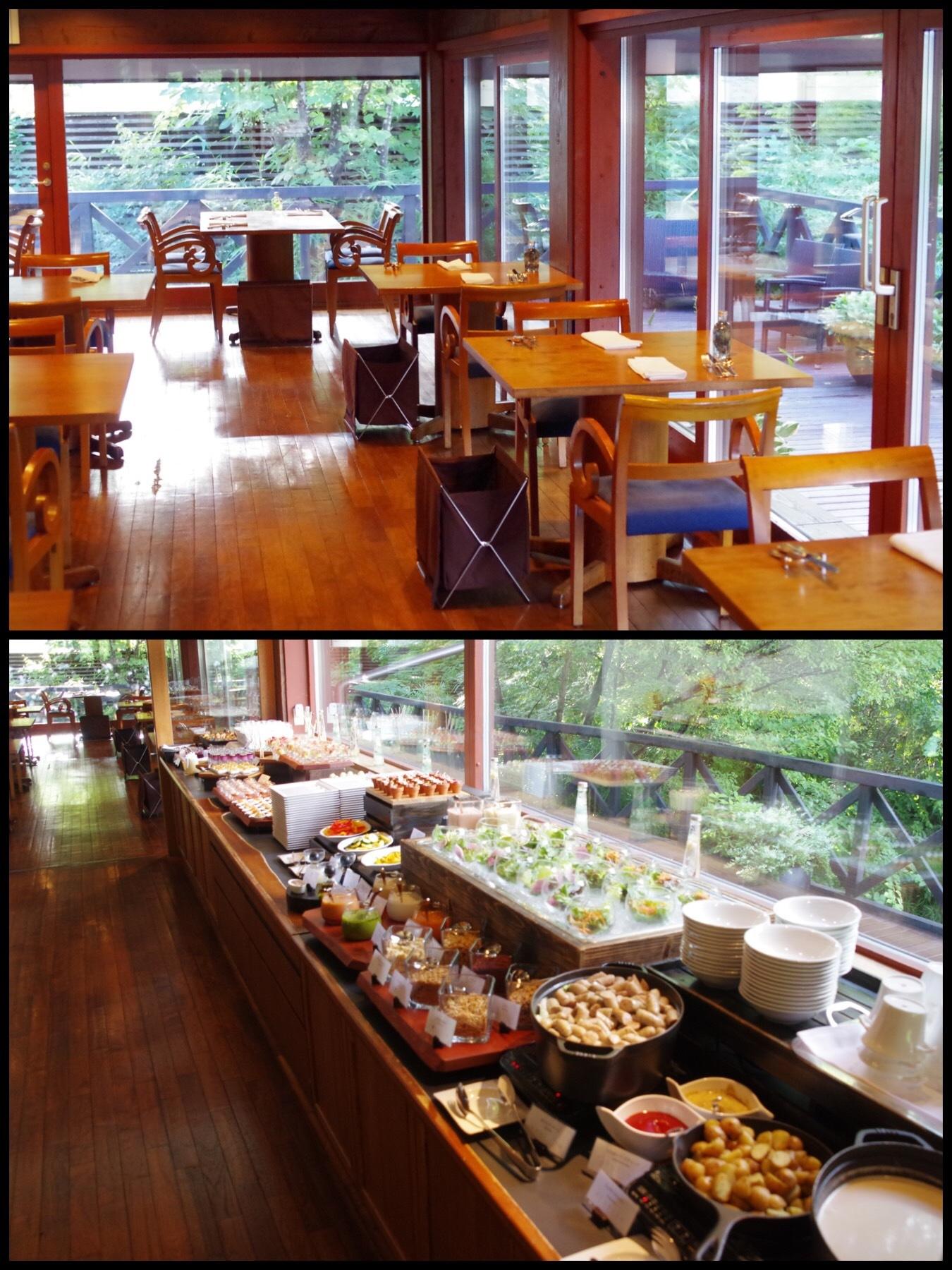 軽井沢ブレストンコートホテル テラスヴィラ ノーマンズレシピ朝食