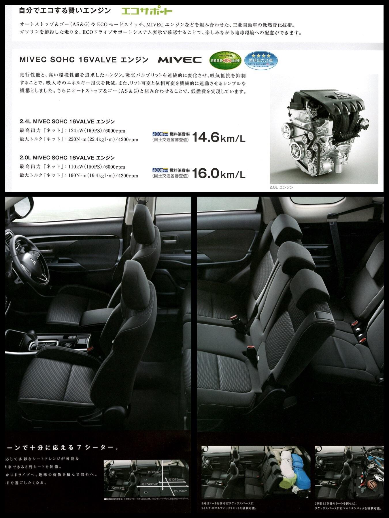 三菱アウトランダー ガソリン2019モデル カタログ