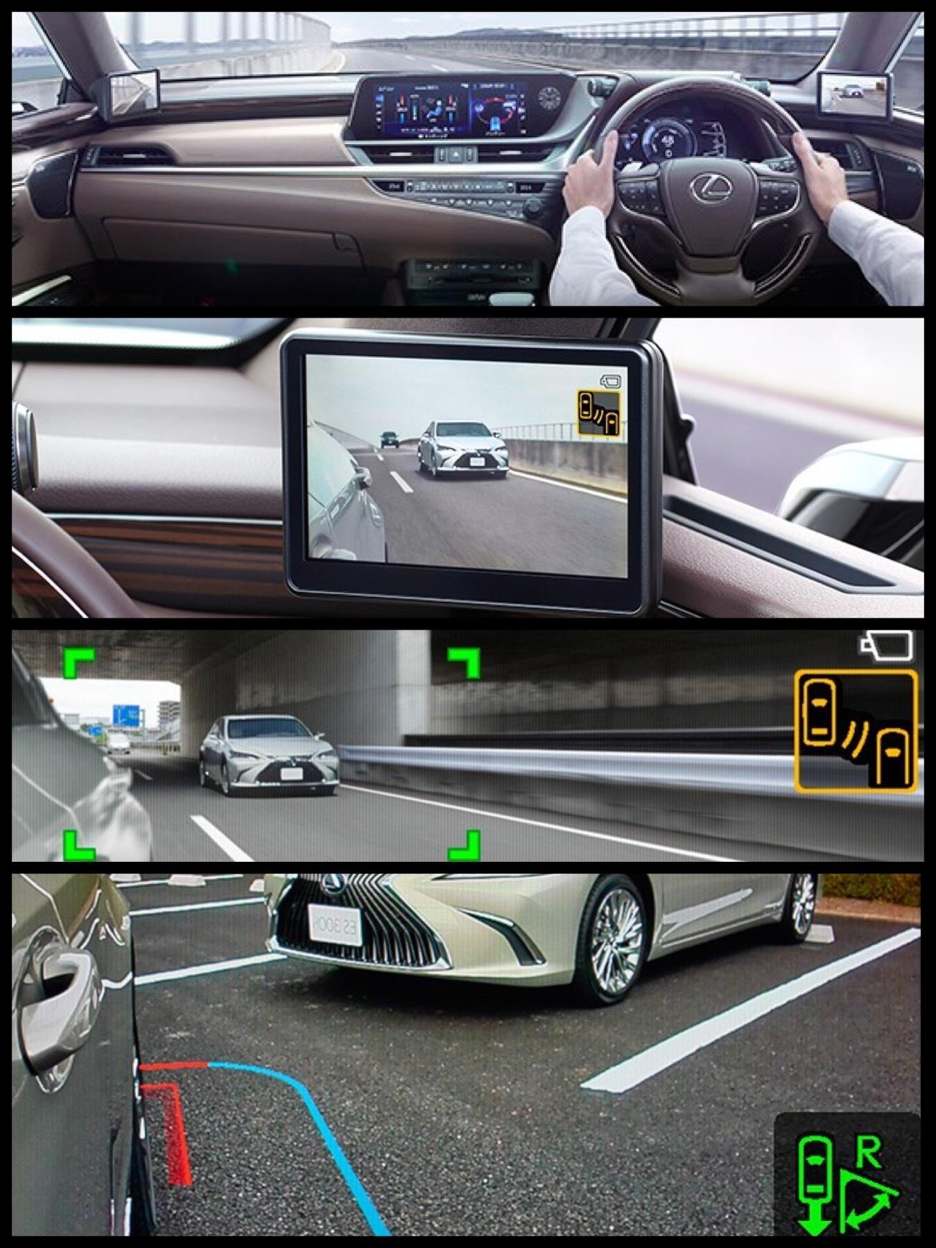 レクサスES デジタルアウターミラー カメラ式ドアミラー