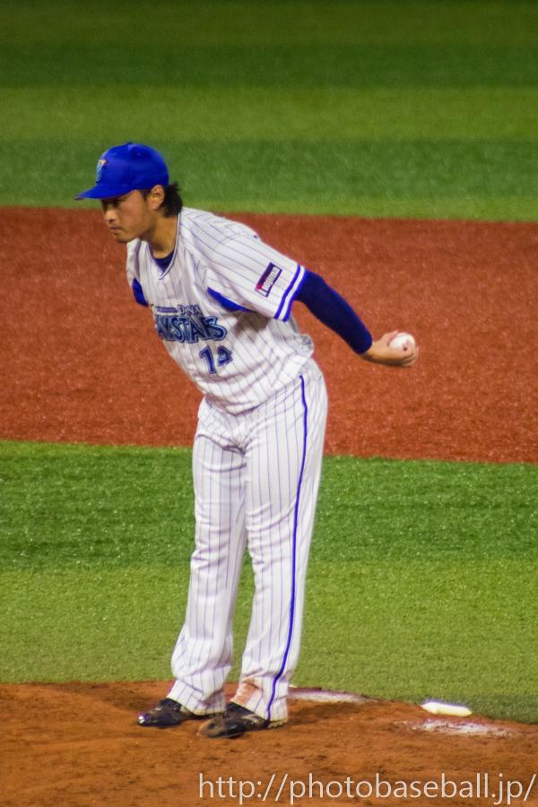 石田健大の投球モーション
