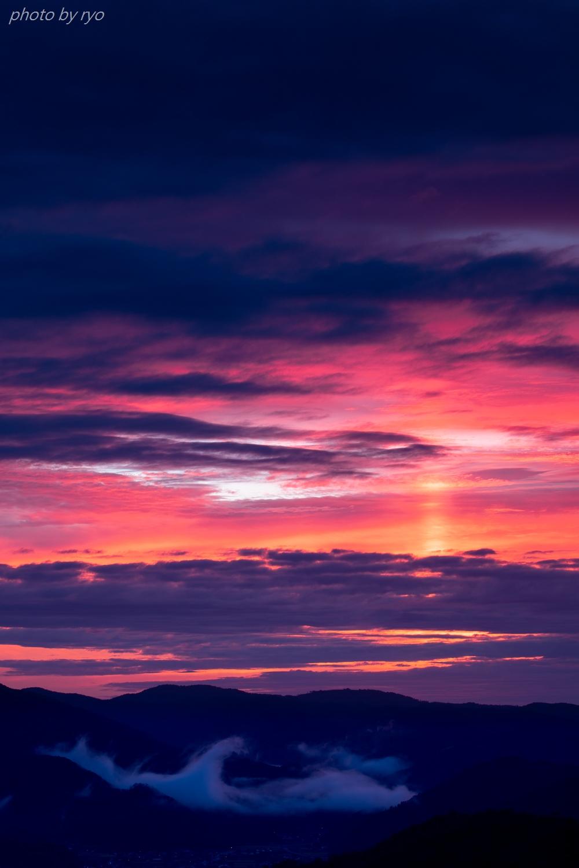太陽柱の見えた朝