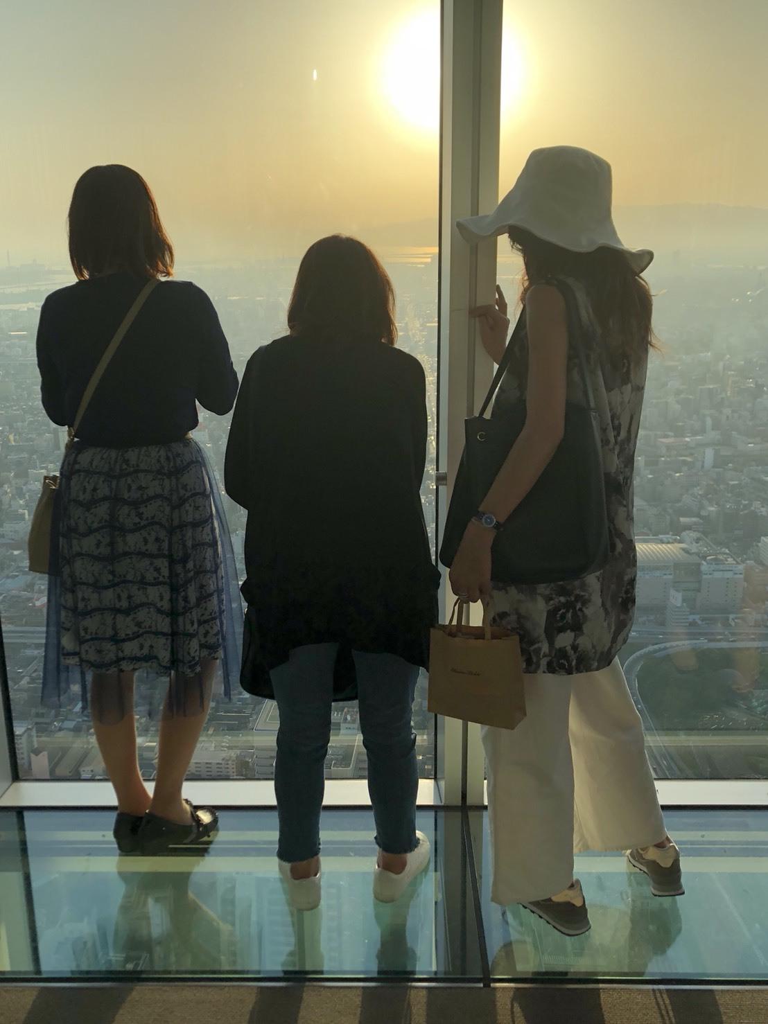大阪ブロガー交流会 夕日が美しい