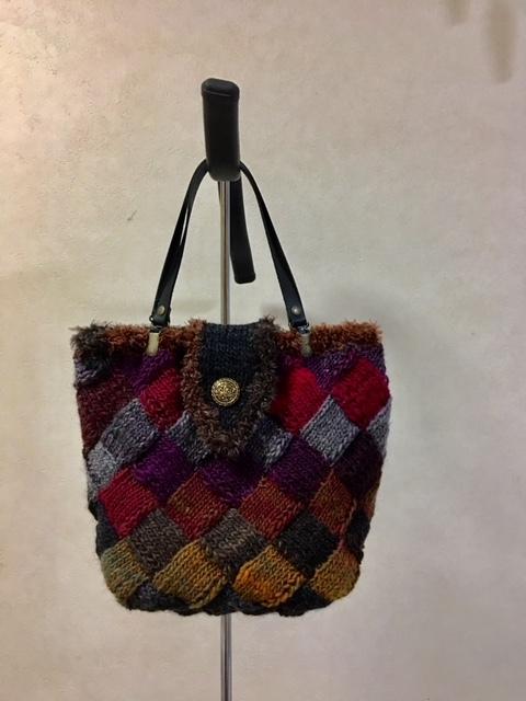 バスケット編みバッグ1