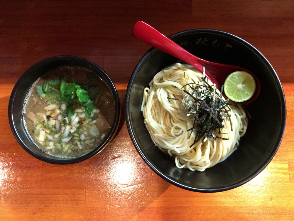 秋刀魚煮干しとスダチの醤油つけ麺(限定)
