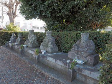 17神足・古市共同墓地 十王石像京都