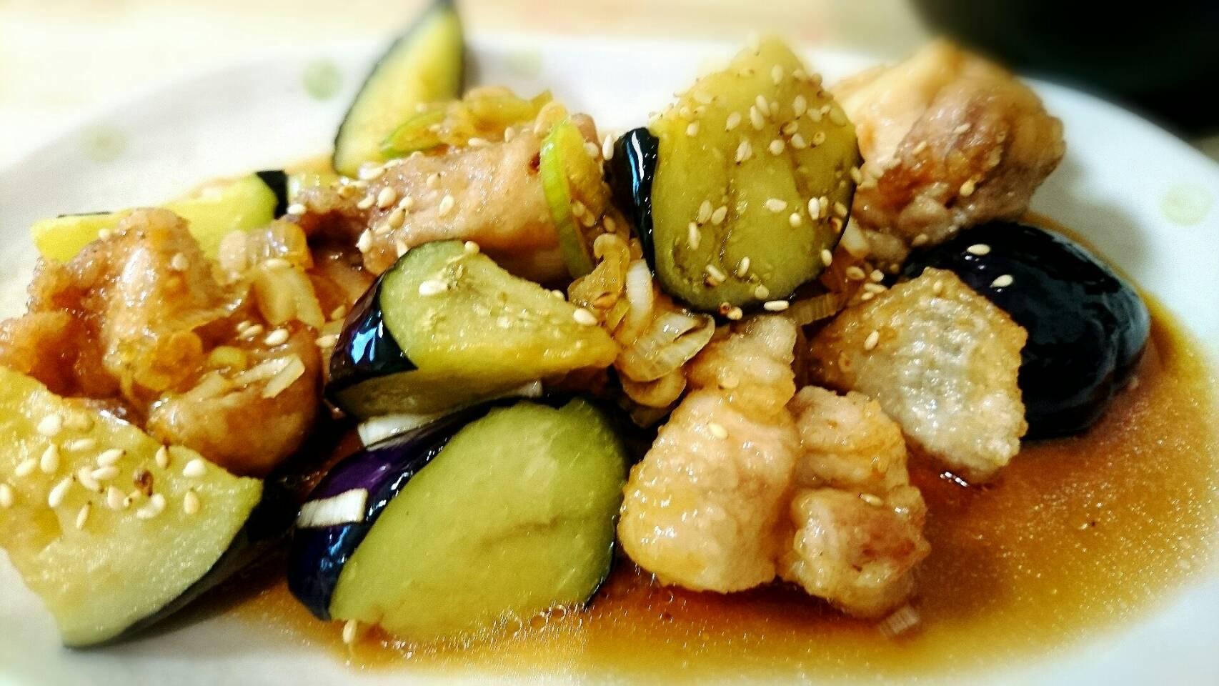 大戸屋風 鶏肉とナスの甘酢ソース