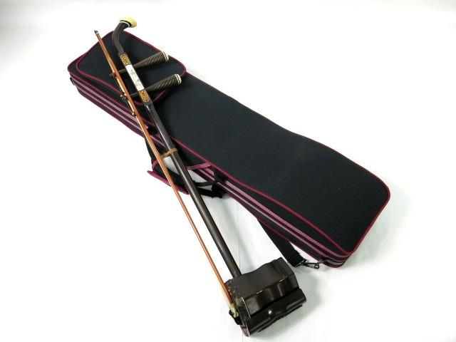 老紅木 二胡 蛇皮 鼈甲 中国楽器