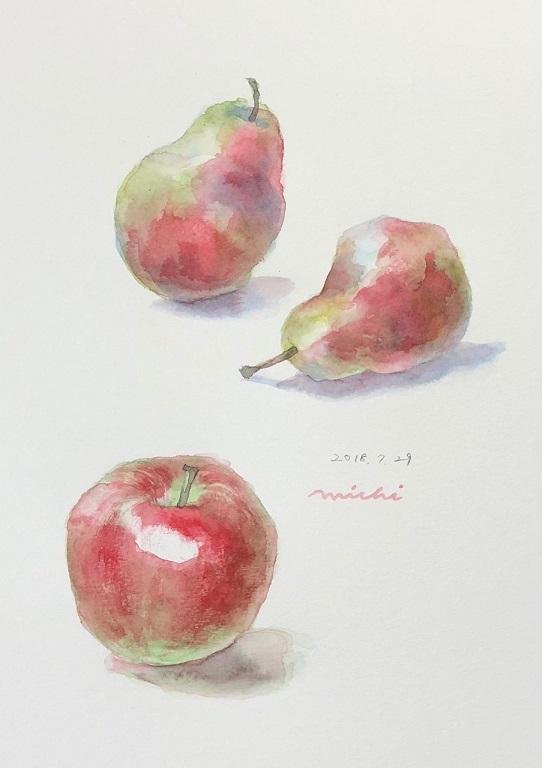 りんごと洋ナシ2018