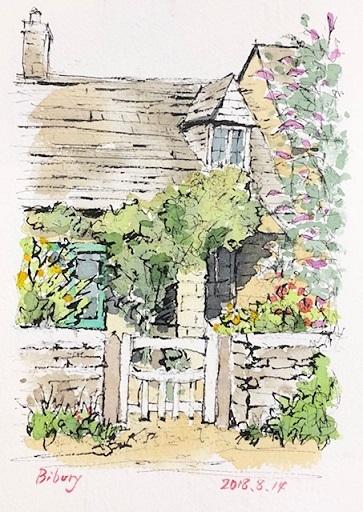 バイブリー花の咲く家