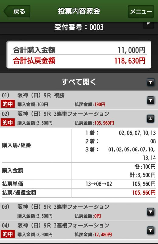 0624阪神9馬券