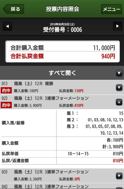 0630福島12馬券