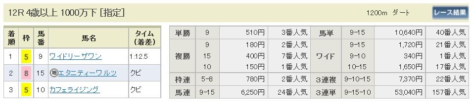 払戻金【300401】中山12R